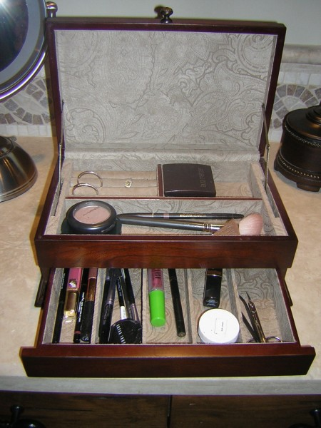 Most of us have more make-up than we actually use.