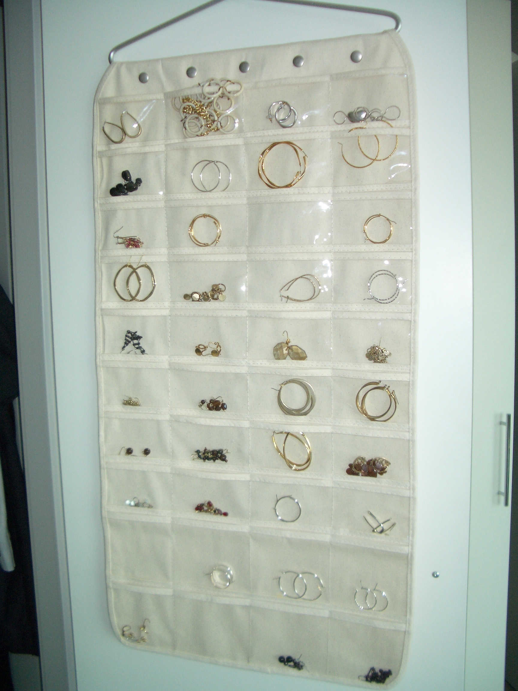 This A Nice Way To Use The Back Of Your Closet Door And Keep All Of Your  Earringsanized Theanizer Below Does The Same For Necklaces